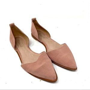 Madewell blush pink Arielle D'Orsay Flats Shoes 9